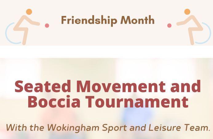 Free: Seated movement and boccia tournament